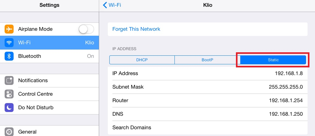iPad Wireless Network 2